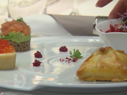 """""""Drei Farben Rot"""" - Borschtsch, Gravlax, Kaviar - Rezept - Bild Nr. 5156"""