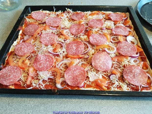 Pizza Studiooso (Pizza backen nach/mit Bilderrezept) - Rezept - Bild Nr. 5135