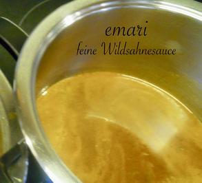 Grundrezept: Feine Wildsahnesauce - Rezept - Bild Nr. 5094