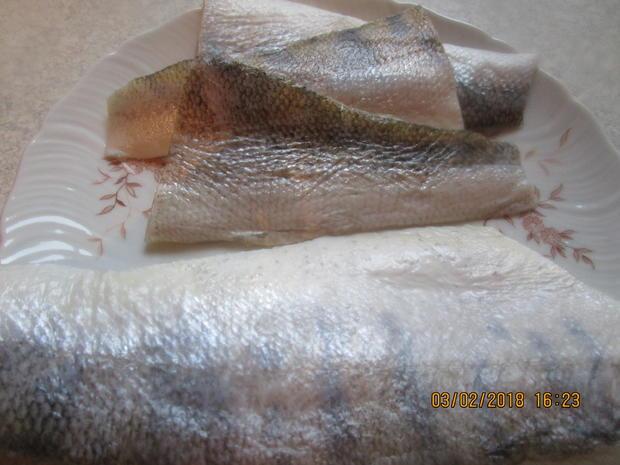 Zanderfilet gebraten mit RAhmsauerkraut und Paprika - Rezept - Bild Nr. 5104