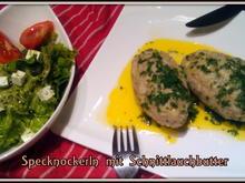Specknocken mit Schnittlauchbutter und Saisonsalat - Rezept - Bild Nr. 5095