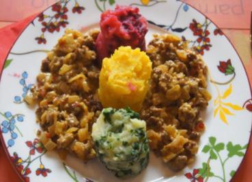 Ampel-Kartoffelstampf mit pikanter Hackfleischsauce - Rezept - Bild Nr. 2