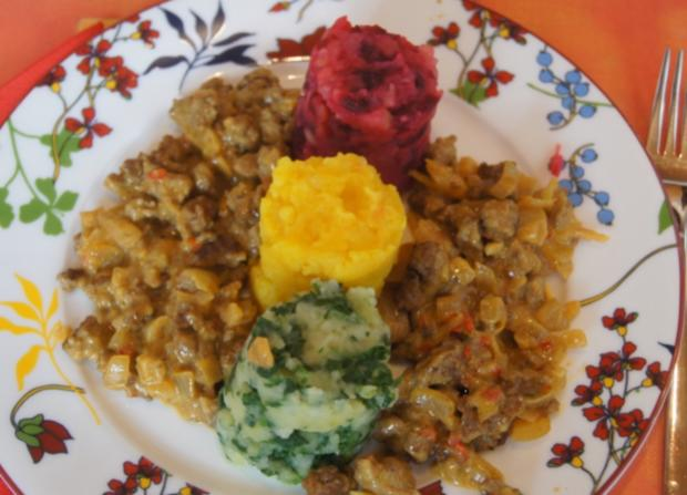 Ampel-Kartoffelstampf mit pikanter Hackfleischsauce - Rezept - Bild Nr. 10