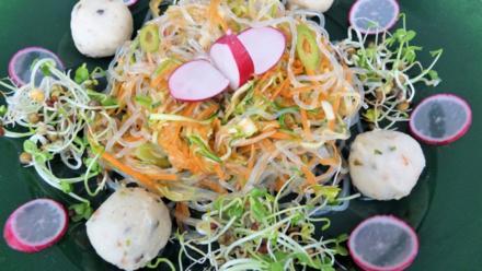 Frischer Kelp-Noodle-Salat mit scharfen Gemüsen - Rezept - Bild Nr. 5156
