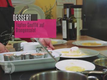 Rezept: Topfen Soufflé auf Orangensalat