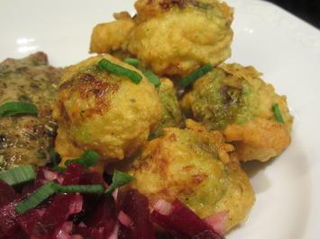 Rezept: Gemüse: Rosenkohl frittiert