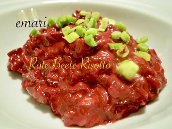 Rezept: Risotto von der roten Rübe bzw. rote Beete