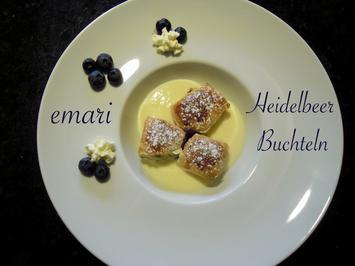 Heidelbeer Buchteln mit Vanillesauce - Rezept - Bild Nr. 5164