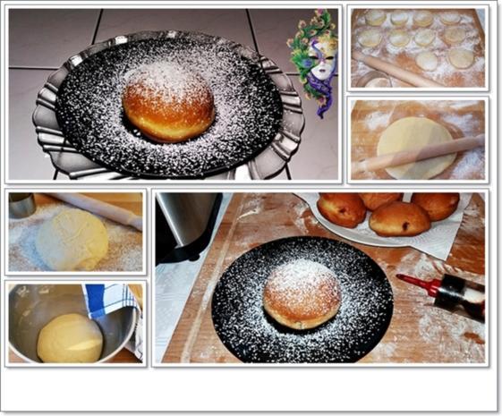 Gold gebackene  Faschingskreppel - Rezept - Bild Nr. 5180