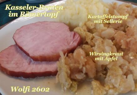 > Schwein < Kasseler-Braten im Römertopf - Rezept - Bild Nr. 5173
