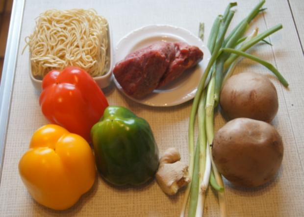 Rindfleisch mit Paprikamix und Mie-Nudeln - Rezept - Bild Nr. 5196