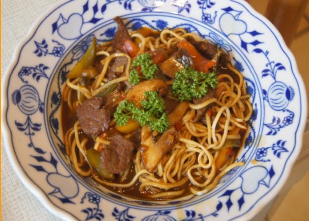 Rindfleisch mit Paprikamix und Mie-Nudeln - Rezept - Bild Nr. 5214