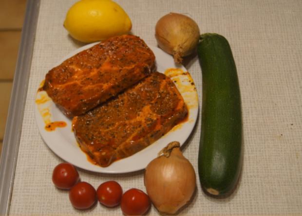 Paprika Steak mit Beilagen II - Rezept - Bild Nr. 5195