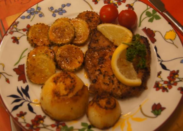 Paprika Steak mit Beilagen II - Rezept - Bild Nr. 5196
