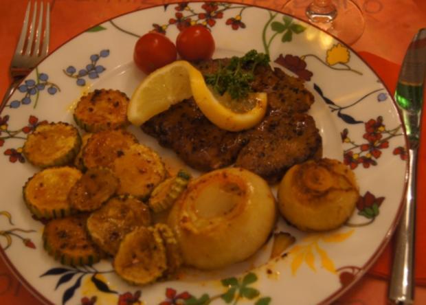 Paprika Steak mit Beilagen II - Rezept - Bild Nr. 5204