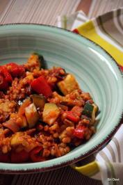 Paprika-Zucchini-Pfanne mit Buchweizen oder Dinkel - Rezept - Bild Nr. 2