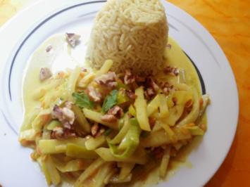 Rezept: Curry mit Kohlrabi und Linsen