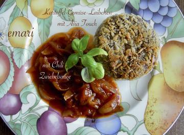Rezept: Kartoffel - Gemüselaibchen mit Asiatouch