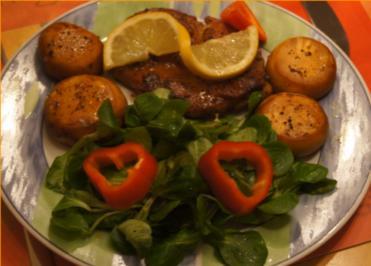 Paprika Steak mit Beilagen III - Rezept - Bild Nr. 5202