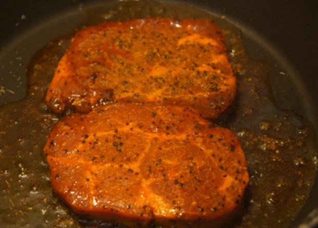 Paprika Steak mit Beilagen III - Rezept - Bild Nr. 5204