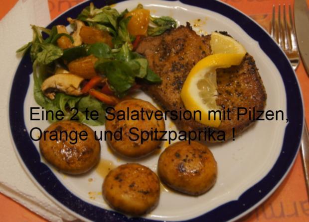 Paprika Steak mit Beilagen III - Rezept - Bild Nr. 5206