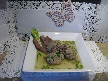 Rinderbrühe mit Beinscheiben +Lebernocken- Klößchen - Rezept - Bild Nr. 5208