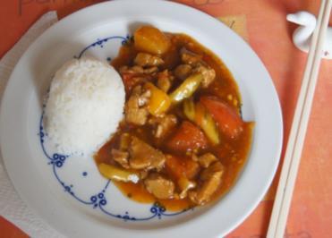 Schweinefilet süß sauer mit Basmati Reis - Rezept - Bild Nr. 5209