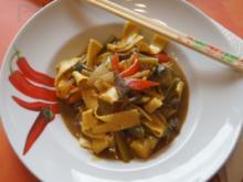 Rindfleisch mit Gemüse und Bandnudeln im Wok - Rezept - Bild Nr. 5230