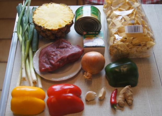 Rindfleisch mit Gemüse und Bandnudeln im Wok - Rezept - Bild Nr. 5231