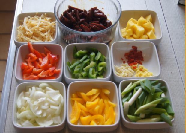Rindfleisch mit Gemüse und Bandnudeln im Wok - Rezept - Bild Nr. 5233