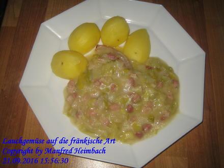 Gemüse – Lauchgemüse auf die fränkische Art - Rezept - Bild Nr. 5247