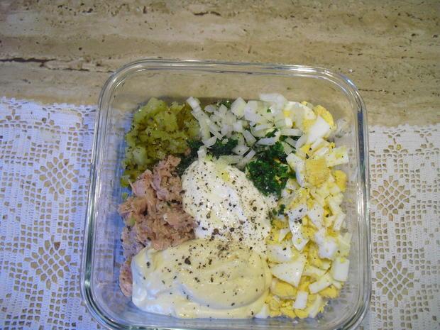 Eier-Thunfisch-Salat mit selbstgem. Mayo - Rezept - Bild Nr. 5257