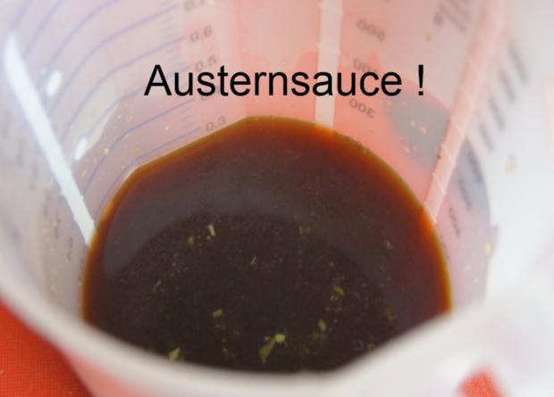 Gebratenes Rindfleisch mit Gemüse, Austernsauce und Jasmin-Reis - Rezept - Bild Nr. 5255