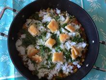 Reispfanne, leicht scharf, anglo-indisch, inspiriert vom Rezept Kedgeree - Rezept - Bild Nr. 5251