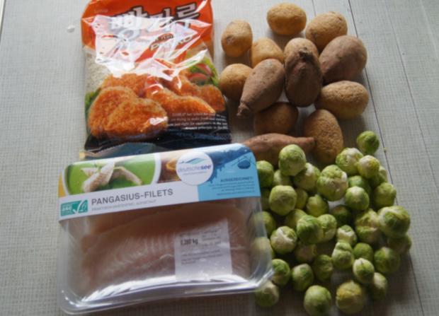 Pangasius-Filet mit Rosenkohl und pikanten Kartoffelstampf - Rezept - Bild Nr. 5254