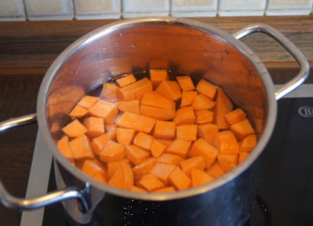 Pangasius-Filet mit Rosenkohl und pikanten Kartoffelstampf - Rezept - Bild Nr. 5265