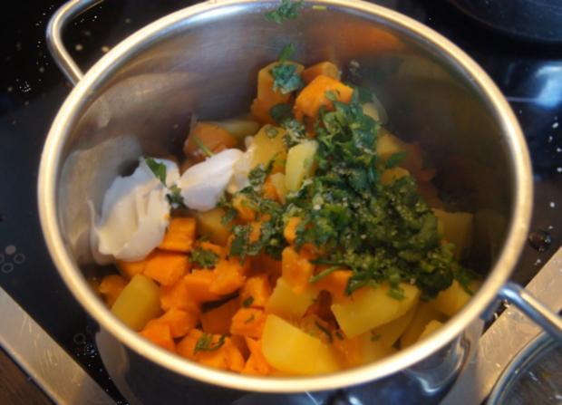 Pangasius-Filet mit Rosenkohl und pikanten Kartoffelstampf - Rezept - Bild Nr. 5267