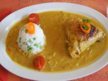 Hähnchencurry mit Jasmin-Erbsen-Reis - Rezept - Bild Nr. 5283