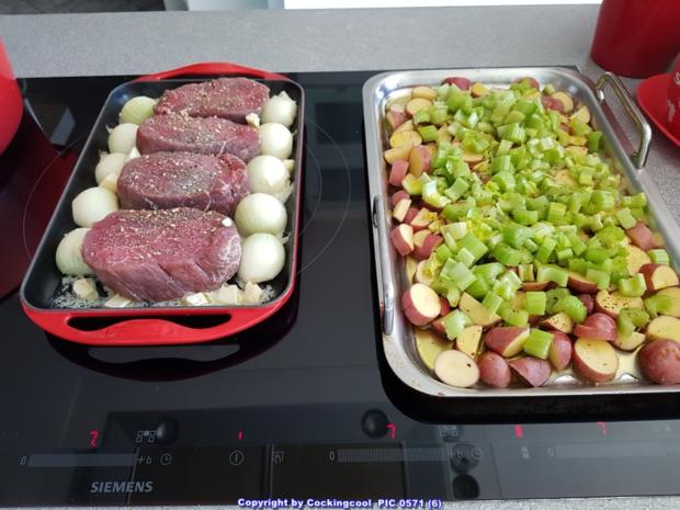 Fleisch / Rind = Filetsteak`s (medium) mit Stiltonsosse à la Biggi - Rezept - Bild Nr. 5267