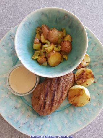 Fleisch / Rind = Filetsteak`s (medium) mit Stiltonsosse à la Biggi - Rezept - Bild Nr. 5274