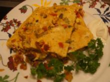 Omelett mit pikanten Gemüsemix - Rezept - Bild Nr. 5265