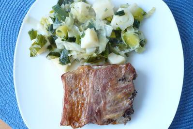 Rezept: Rippchen mit Sellerie -Porree -Gemüse