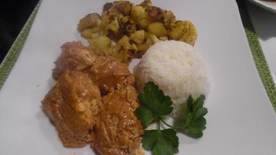 Tandoori Chicken mit Aloo Gobi (indischer Blumenkohl) - Rezept - Bild Nr. 5308