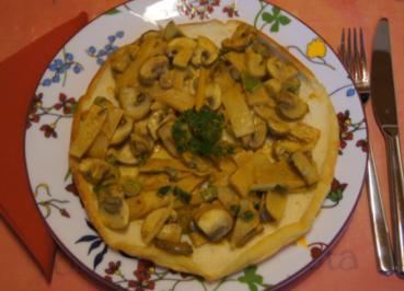 Omelett mit Bambus-Champignon-Füllung - Rezept - Bild Nr. 5306