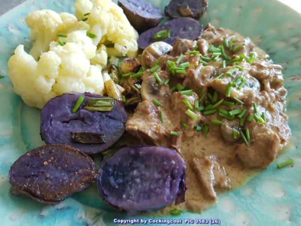 Fleisch / Rind = Rindergulasch ohne Röstaromen  à la Biggi - Rezept - Bild Nr. 5350