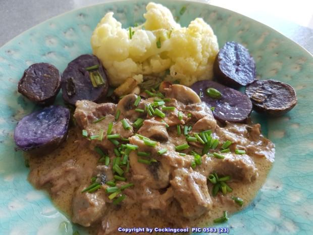 Fleisch / Rind = Rindergulasch ohne Röstaromen  à la Biggi - Rezept - Bild Nr. 5372