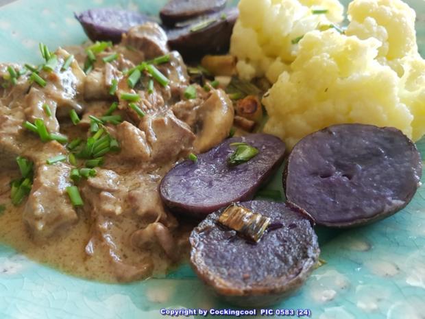Fleisch / Rind = Rindergulasch ohne Röstaromen  à la Biggi - Rezept - Bild Nr. 5373