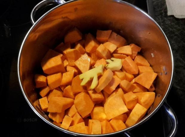 Süßkartoffelsuppe mit Ingwer - Rezept - Bild Nr. 5312