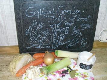 Rezept: Geflügel-Gemüse-Brühe auf Vorrat