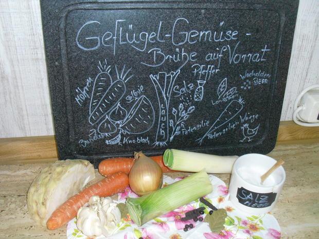 Geflügel-Gemüse-Brühe auf Vorrat - Rezept - Bild Nr. 5315